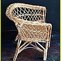 rotin chaise enfant
