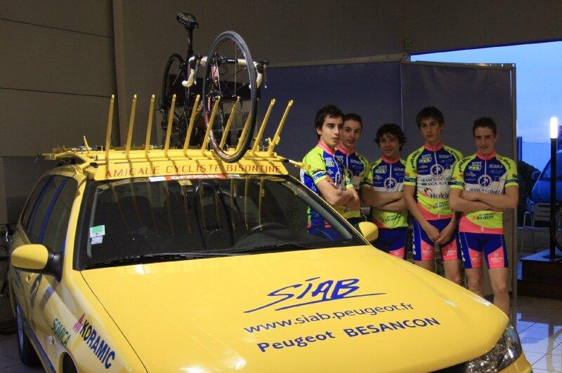 00 Présentation équipes de l'Amicale Cycliste Bisontine à la SIAB de BESANCON