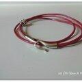 Bracelet cuir fuchsia 1