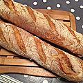 Baguettes de pain au levain