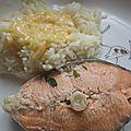 Darne de saumon et sa sauce au beurre blanc
