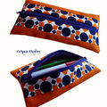 trOusse plate orange bleu vintage