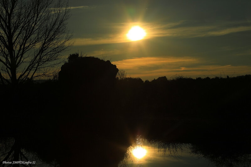 Photos JMP©Koufra 12 - Le Caylar - Couche de soleil - étang - 26022019 - 0281