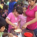 Haciendo roquitas con la tía Marisol
