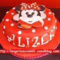 Gâteau minnie en 2d