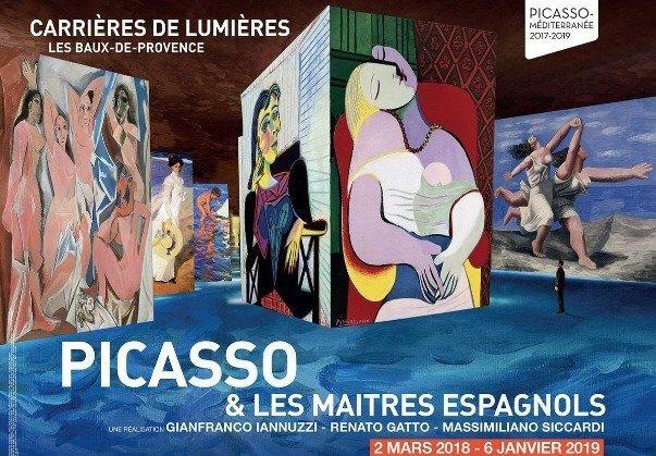 Picasso et les maîtres espagnols, aux Carrières de lumières