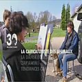 Caricature dessinée en direct, vidéo, betty caricaturiste
