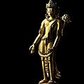 A gilt copper alloy figure of padmapani lokeshvara, tibet, circa 1400