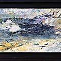 Tempete nordique- acryl2015- cadre noir- 20X50cm- (n° 43)