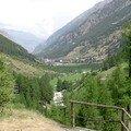 Täsch, en descendant à pied de Zermatt
