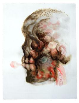 Caroline Fontaine-Riquier, noir, goudron et encre sur papier, 60 x 80cm
