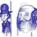 Gribouillis à chapeau et à barbe