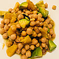 Salade de pois chiches avocat et orange