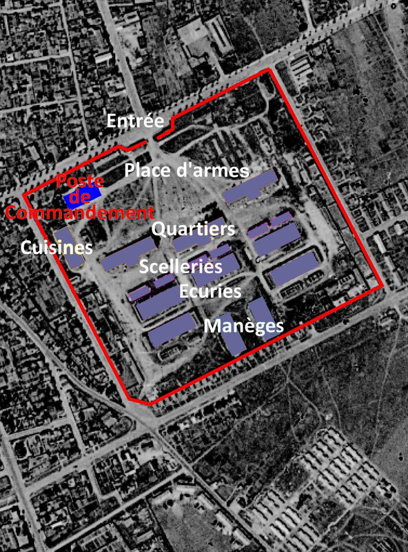 Plan Quartier Claude Decaen Poste de commandement
