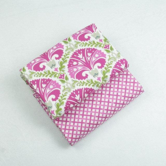 2-pcs-150-50-cm-Style-Ethnique-Vintage-100-Coton-Patchwork-Tissu-pour-la-Couture-Courtepointes