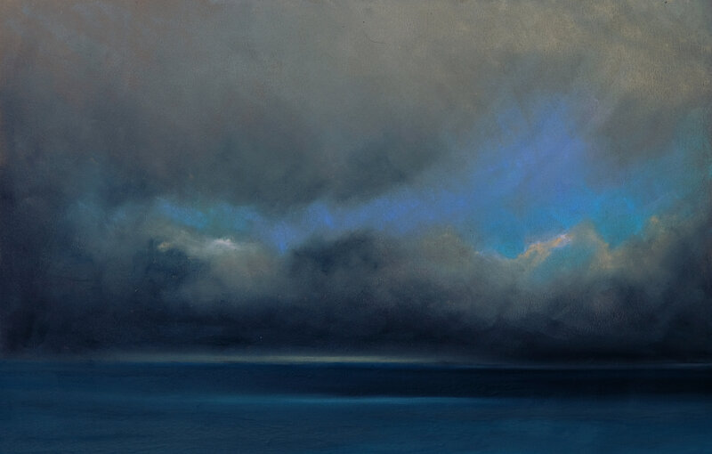 horizon elevation 107, pastel à l'huile, 48 x 32 cm, mai 2019