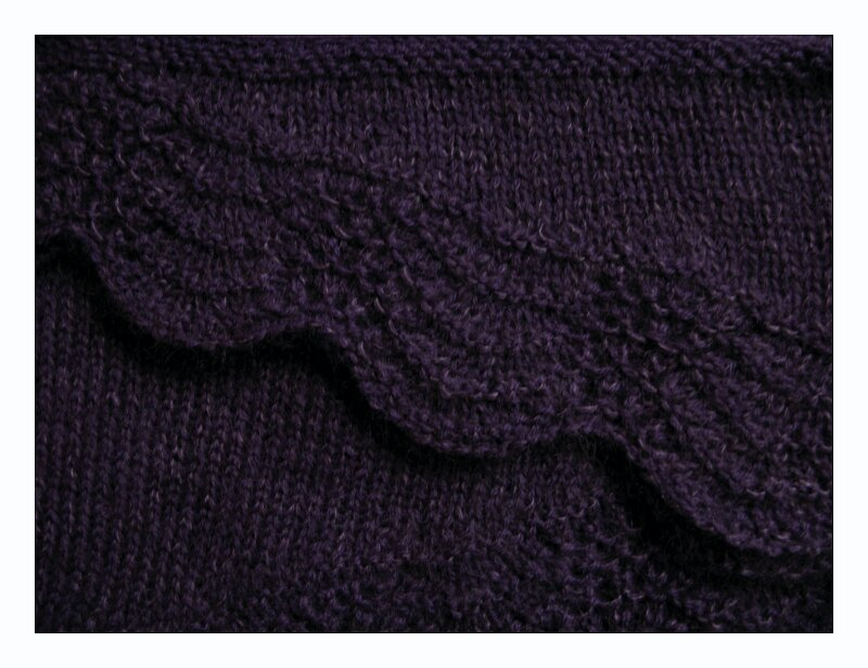 Abyss shawl violet