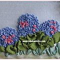 Point de broderie: le point de noeud (french knot )
