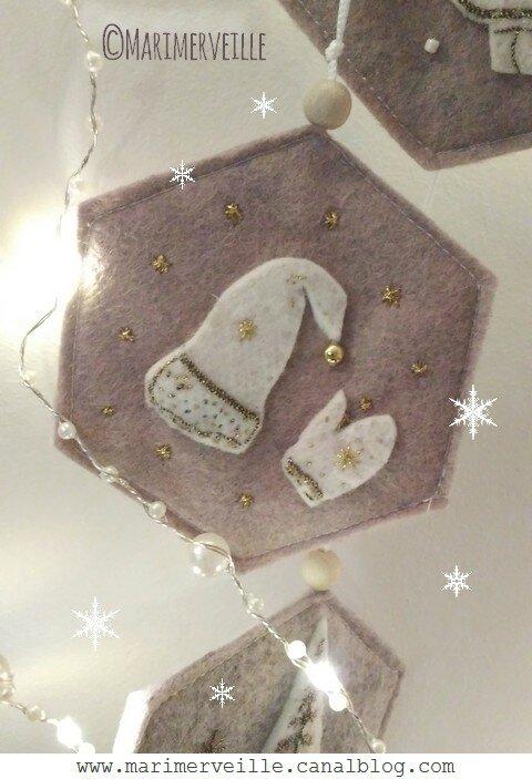 Décoration de charme esprit nordique N°6 bonnet à pompon et gant Marimerveille