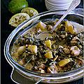 Poulet épicé aux blettes, pommes de terre & lait de coco
