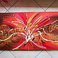Tableau abstrait toile home déco - salsa - 100 x 50