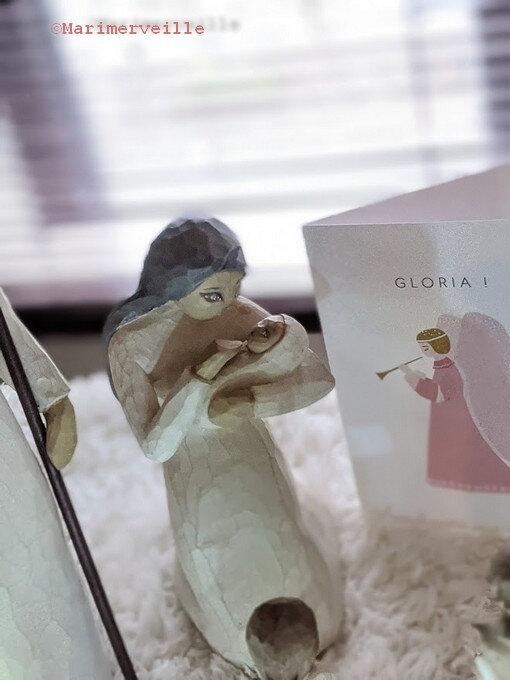 Vierge à l'enfant au visage peint - Marimerveille