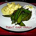 Poulet rhum-vanille
