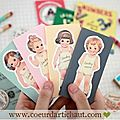 blocs-notes-adhesifs-retro-paper-doll www.coeurdartichaut.com