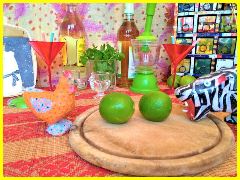 citrons verts et recettes de cocktails de mojitos