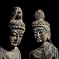 'elegance personified: a pair of tang standing bodhisattvas' at christie's new york, 13 - 14 september
