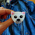 Broche ours polaire