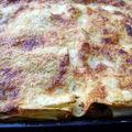 gratin de lasagnes blettes - ricotta - parmesan