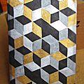 Tuto : tableaux motif cubique diy