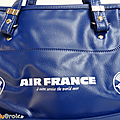 Vintage ... sac de voyage air france * bleu