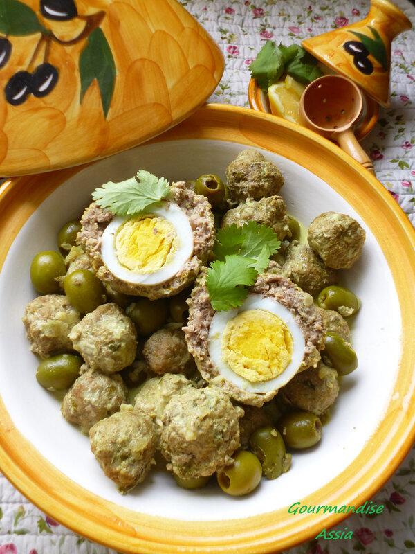 tajine viande hachée et olive
