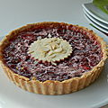 Tarte aux fraises et à la rhubarbe, sans gluten