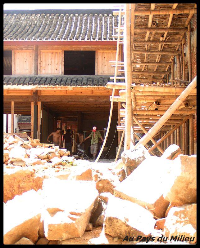 Ile Putuo Shan extension d'un temple