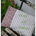 Coussin Sieste au jardin