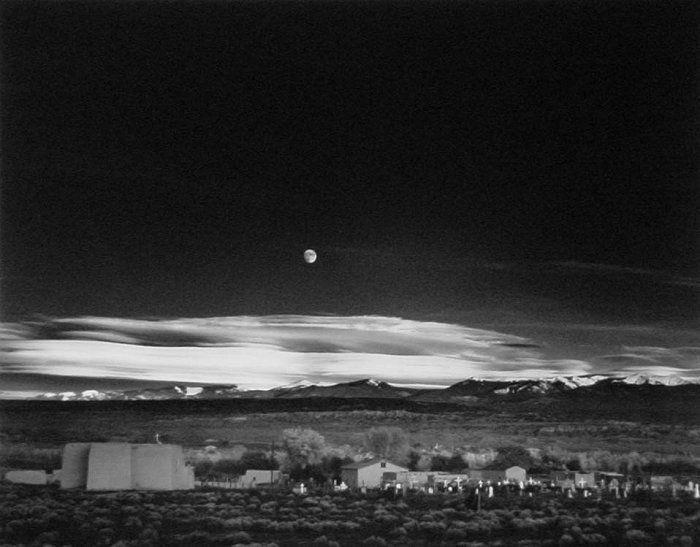 75. Ansel Adams, Moonrise, Hernandez, New Mexico, 1941.