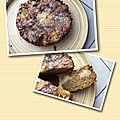 Gâteau renversé aux amandes, pommes et miel ( 300 cal/ la part)