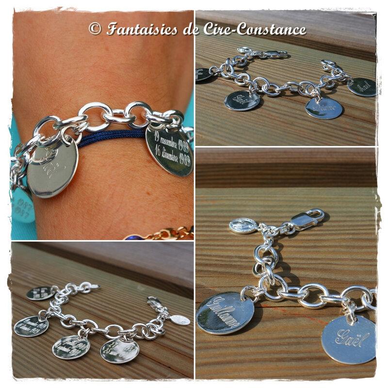 Bracelet médailles plates 20 mm