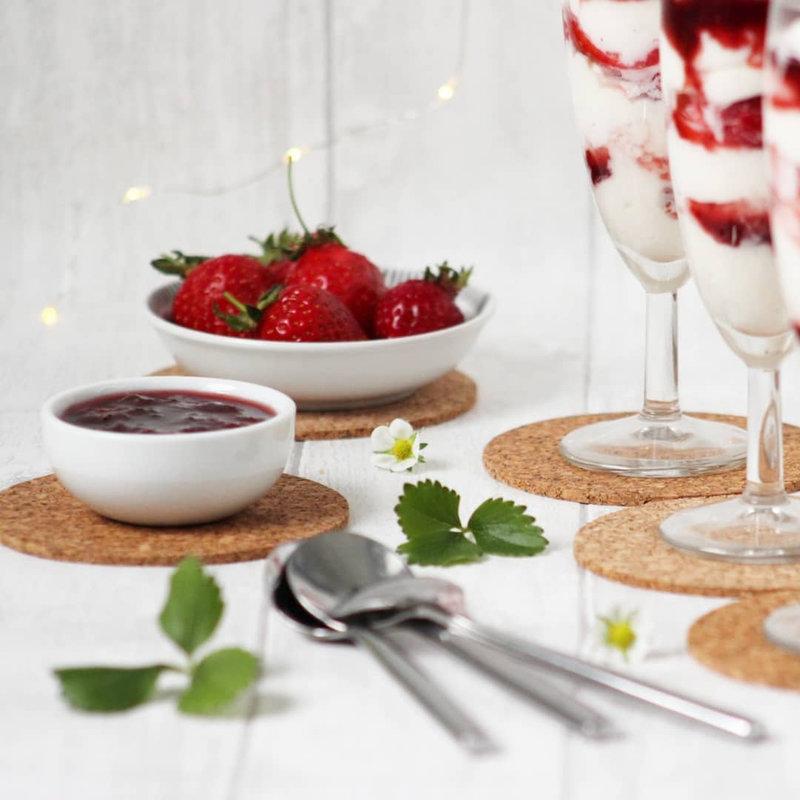 chez cathytutu fontainebleau dessert faisselle fraise chantilly trop bon facile rapide à faire