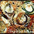 P'tits rouleaux de courgettes et d'aubergine, ricotta et tomate
