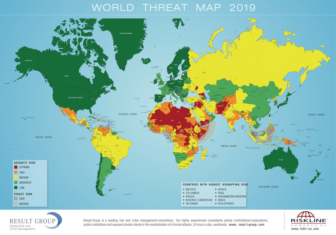 world threat map 2019