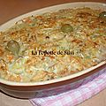 Gratin de thon légumes de pommes de terre frites en cubes