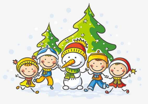 pngtree-children-and-snowman