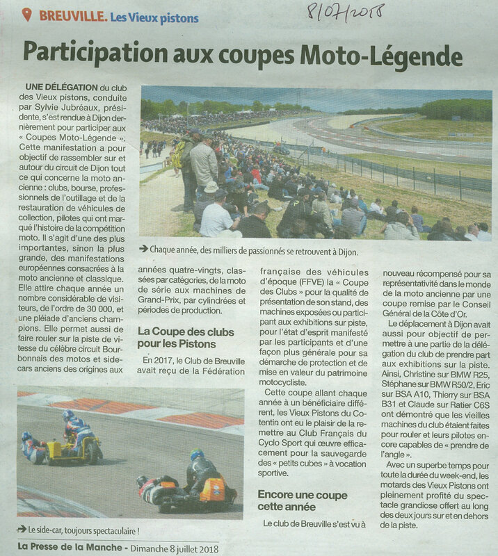 Article Presse Coupes ML 2018