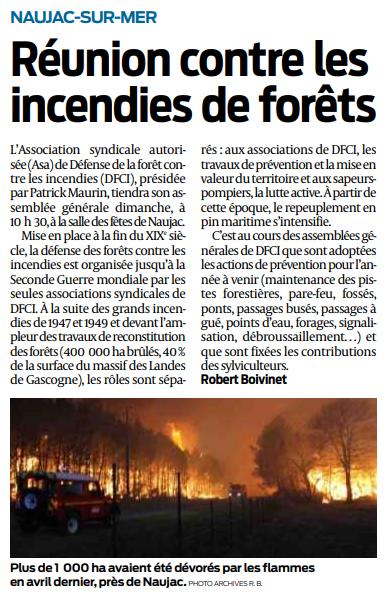 2018 04 05 SO Naujac-sur-mer Réunion contre les incendies de forêts
