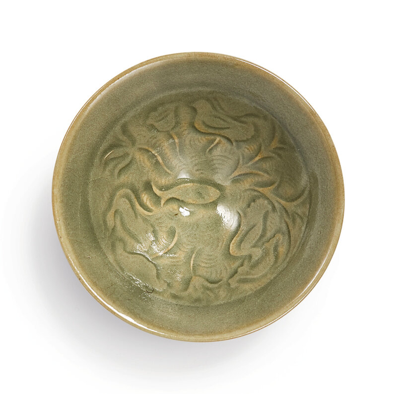 A small 'Yaozhou' ''lotus pond' bowl, Northern Song dynasty (960-1127)