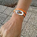 Bracelet Boucle (orange)